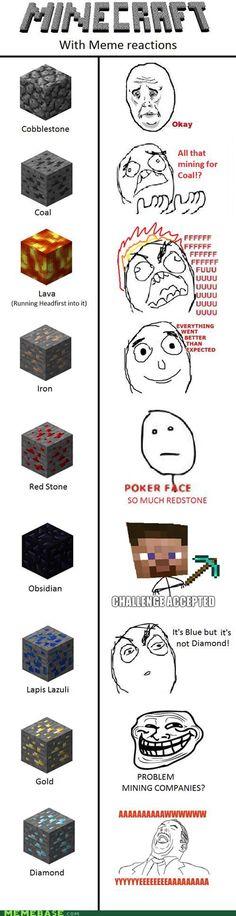 memes minecraft meme reactions