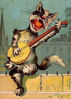 A gypsy jazz cat?