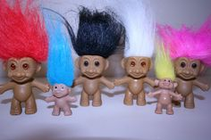 We loved these troll dolls. They had such nice expressions on their faces. My generation of children were very easy to please. We loved everything and were so grateful.