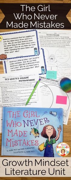Are you looking for growth mindset picture book activities? The Girl Who Never Made Mistakes provides ample opportunities for student discussion and reflection. These easy to use activities are perfect for grade classrooms looking for depth in t Daily 5, Growth Mindset Activities, Growth Mindset Lessons, Growth Mindset For Kids, Growth Mindset Classroom, Classroom Community, Mentor Texts, Beginning Of The School Year, Character Education