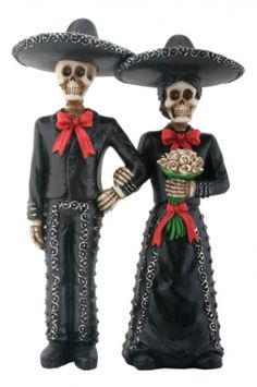 Day of the Dead Skulls Mariachi Wedding Cake Topper