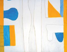 William Scott, [Figure Expanded], 1964, Oil on canvas, 154.9 × 199.5 cm / 61 × 78½ in, Private collection