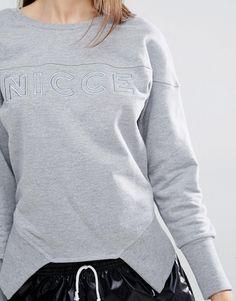 Image 3 of Nicce London Crew Neck Sweatshirt With Asymmetric Hem And…