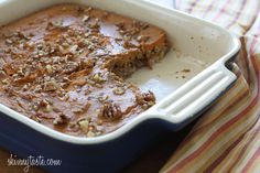 Baked Oatmeal with Pumpkin and Bananas  click photo for recipe.
