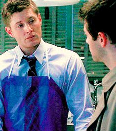 I feel like some Dean/Cas eye-sex is happening here. gif
