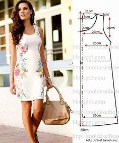 Dress Sewing Patterns, Sewing Patterns Free, Free Sewing, Clothing Patterns, Pattern Sewing, Free Pattern, Sewing Clothes, Diy Clothes, Nice Dresses