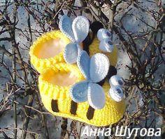 Купить или заказать Пинетки 'пчелки' в интернет-магазине на Ярмарке Мастеров. Пчёлки из серии божьих коровок,цвета на выбор. Забавные детские пинетки для новорождённых,из детской пряжи. Тёплые и уютные пинетки согреют ножку и поднимут настроение как карапузу так и его родителям и окружающим. Размеры пинеток возможны до 6месяцев и после 6месяцев до года. После как ножка подрастёт из пинеток можно сделать две забавные игрушки набив наполнителем и зашив их.