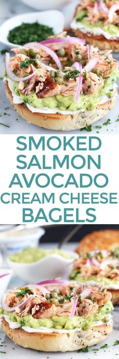 A Smoked Salmon Avocado Cream Cheese Bagel is a new way to do breakfast or brunch. Instead of the default lox and bagel routine, switch to flavorful smoked salmon paired with creamy avocado, rich cream cheese, red onion and capers. It's a twist on the traditional pairing that will start your day off the right way!