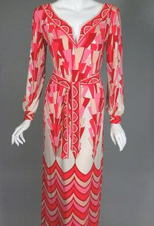 1970s Emilio Pucci silk gown  - Courtesy of vivavintageclothing.com