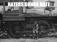 {gif} Buster Keaton The great thing is he does this because the haters are hating. haha