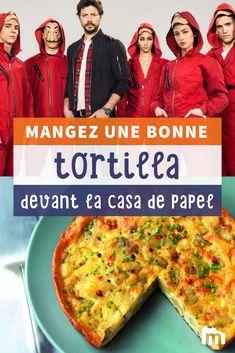 """On fête le grand retour de la série """"La Casa de Papel"""" en se préparant cette délicieuse tortilla très rapide et en la dévorant devant les premiers épisodes ! #recettemarmiton #marmiton #recette #recettefacile #recetterapide #faitmaison #cuisine #ideesrecettes #inspiration #tortilla #espagne #omelette Omelettes, Quiches, 20 Minutes, Let It Be, Pizza, Paper Envelopes, Food Cakes, Cooker Recipes, Budget Cooking"""