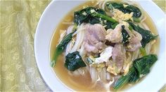 Thick White Noodles with Chicken Soup