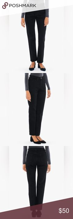 AA High Waist straight leg Jean High waist! Straight leg. Black. Bought Size 26 but fits more like a 24/25! New with tags *NO OFFERS- these are brand new* American Apparel Jeans