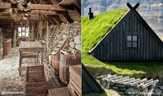 Это одна из рыболовных станций Исландии XVIII века, возможно немного мрачная, но практичная для своей цели. Подробнее: www.naturalhomes.org/ru/homes/bolungarvikinsideout.htm