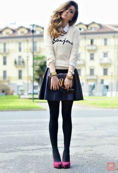Bisbilhoteiras | Blog | Para inspirar: Looks com meia calça