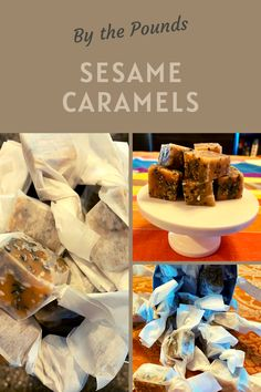 These caramels are so addictive with a savory note and some crunch from black and white sesame seeds. Salt Flakes, Salted Caramels, Wax Paper, Corn Syrup, Amazing Recipes, Toffee, Food Print, Sweet Treats, Favorite Recipes