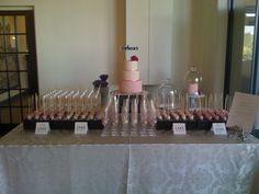 the full cake table/dessert station Cake Table, Cake Pops, Beautiful Day, Dessert, Wedding, Valentines Day Weddings, Deserts, Postres, Weddings