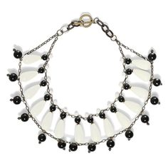 Furla Black and White Ceramic Statement Necklace from Bijoux Closet