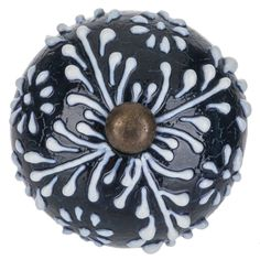 Get Navy & White Floral Burst Knob online or find other Knobs products from HobbyLobby.com