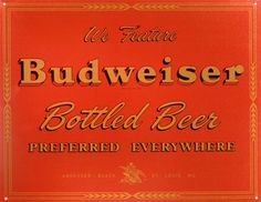Budweiser Tin Sign 16 x 13in ** To view further, visit now : Home Decorative Accessories