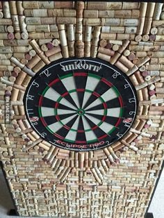 Over 1000 corks and a lot of time to finish my custom dartboard.