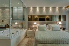 Buscá imágenes de diseños de Dormitorios estilo moderno de Isabella Magalhães Arquitetura & Interiores. Encontrá las mejores fotos para inspirarte y creá tu hogar perfecto.
