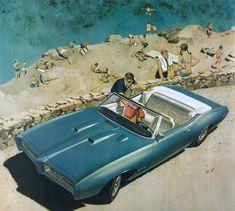 "savetheflower-1967:""Pontiac GTO ad illustration - 1969."""