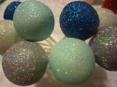 One dozen Sparkle cake pops, over 40 colors of glitter. Weddings, showers, birthdays