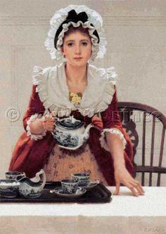Scarlet Quince cross stitch chart: Tea - G. D. Leslie