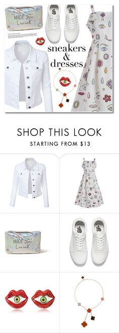 """""""Sneakers and dresses"""" by fshionme ❤ liked on Polyvore featuring LE3NO, Hollister Co., Vans, Bernard Delettrez, Van Cleef & Arpels, vintage, festivalfashion and SNEAKERSANDDRESSES"""