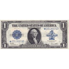 1923 $1 Star Silver Certificate XF razor cuts through seal and blue 1 dollar