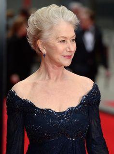 Dame Helen Mirren arrives at the Olivier Awards 2013