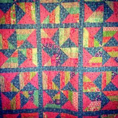 Sweet quilt we finished quilting today! #quilted hearts #longarmquilting