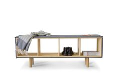 Parka Collection / wooden furniture nestled in woolen upholstery