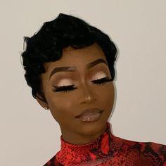 Makeup For Black Skin, Black Girl Makeup, Girls Makeup, Makeup Black Women, Dope Makeup, Glam Makeup Look, Glamour Makeup, Flawless Makeup, Gorgeous Makeup