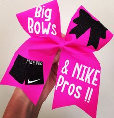 Big Bows And Nike Pros Hot Pink Spandex Cheer Bow