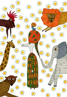 Mr.Master in Afrika Art Print