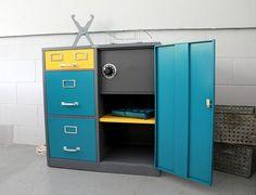 Cole Steel MidCentury Industrial File Cabinet by rerunzvintageshop,