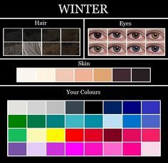 The Winter colour palette consists of pure white, silver, icy grey, charcoal… Cool Winter, Winter Typ, Clear Winter, Mens Winter, Soft Summer, Summer Skin, Summer Fresh, Deep Winter Colors, Summer Colors