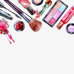 Aquarela de cosméticos, Beleza Maquiagem, Cosméticos, AquarelaImagem PNG