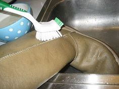 How to Clean Uggs.... It can't hurt to try them on the icky pair I was about to replace!