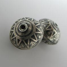 Artisan Sterling Silver Beads--Sunburst.