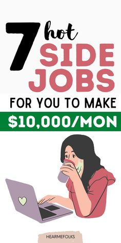 7 Side jobs proven to pay big bucks in 2021. Look no further, if you are wanting to make money from home. These side jobs from home will help you escape the rat race. Earn Extra Cash, Making Extra Cash, Extra Money, Work From Home Moms, Make Money From Home, Way To Make Money, Online Jobs For Moms, Online Work, Make Money Blogging