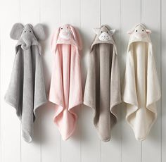 ANIMAL HOODED TOWEL - NEWBORN