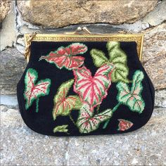 Vintage 1950s needlepoint bag - Trilogy Consignment, Tarrytown NY