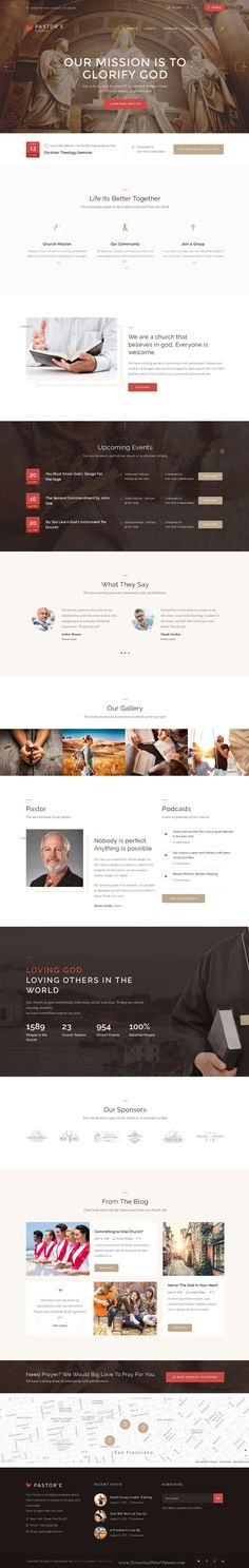 Pastor'e is a clean and light WordPress theme created for churches, #prayer groups, christian, #charity and non-profit organizations #website. Download Now!