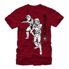 Star Wars Kanji Storm Trooper Mens Graphic T Shirt, Men's, Size: Medium, Red