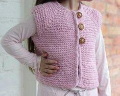 Pink Vest Hand Knit, Baby girl pink vest knitted, baby vest, clothes for baby, Wool Vest for Baby Baby Fur Vest, Wool Vest, Baby Warmer, Baby Knitting, Knitted Baby, Dusty Pink, Little Babies, Pink Girl, Long Sleeve Tops