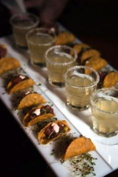 Cocktail hour--tacos 73 Awesome Wedding Food Bars You'll Love | HappyWedd.com