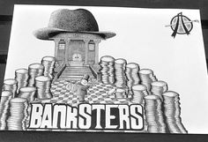 We all know who the real gangsters are  #corruption #banks #conspiracy #knowledgeispower #artivism #politicalart #socialartivist #illustration #pointillism #shading #dotwork #urbanart #streetart #graffiti #fineline #bnw #instaartist #artstagram #igartcommunity #creativeminds #drawing #art_collective #instasketch #artofdrawingg #creativeempire #worldofpencils #artsanity #illustratedmonthly #artist_features #imaginationarts #UK #Nottingham
